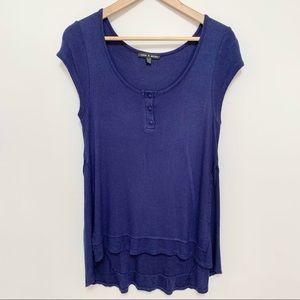 2/$20 Cable & Gauge Flowy Blue T-Shirt